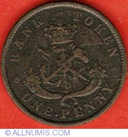 Image #2 of 1 Penny 1857 - Bank Token