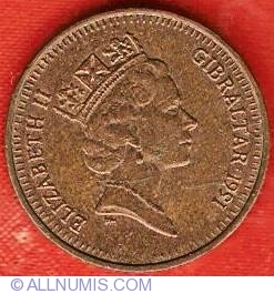 1 Penny 1991 AA, British Colony (1989-2000) - Gibraltar
