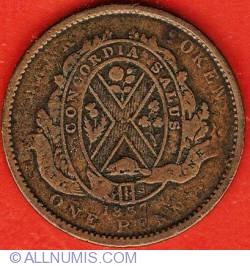 Image #2 of 1 Penny 1837 - Bank Token - City Bank