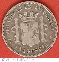 Image #2 of 1 Peseta 1870 (70) SN-M