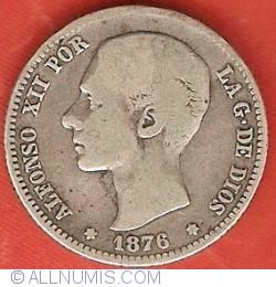 Image #1 of 1 Peseta 1876 (76) DE-M