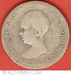 Imaginea #1 a 1 Peseta 1891 (91) PG-M