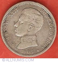 Image #1 of 1 Peseta 1903 (03) SM-V