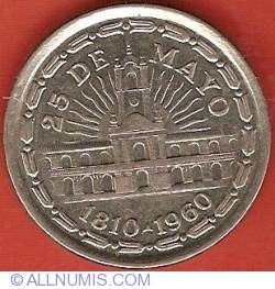 Image #2 of 1 Peso 1960 - 150th Anniversary of Removal of Spanish Viceroy