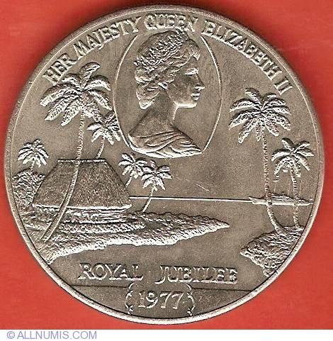 Samoa Tala Coin Queen/'s Silver Jubilee 1977