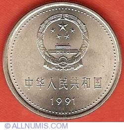 Image #1 of 1 Yuan 1991 - 70th Anniversary of Chinese Communist Party