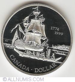 Image #2 of 1 Dollar 1999 - Discovery of Queen Charlotte Isle