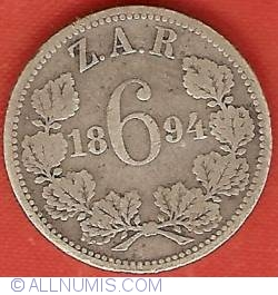 Image #2 of 6 Pence 1894