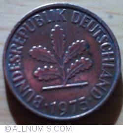 Image #2 of 2 Pfennig 1975 G