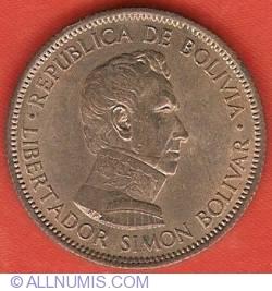 Imaginea #1 a 10 Bolivianos (1 Bolivar) 1951