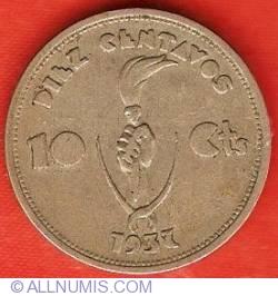 Imaginea #2 a 10 Centavos 1937