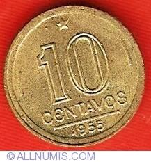 Image #2 of 10 Centavos 1955