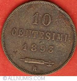 Imaginea #2 a 10 Centesimi 1893 R