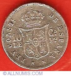 Imaginea #2 a 10 Centimos 1885