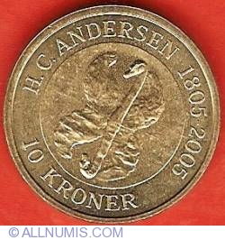 Imaginea #2 a 10 Kroner 2005 - Hans Christian Andersen - Ratusca cea urata
