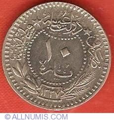 """10 Para 1915 (AH1327/7) - Toughra; """"el-Ghazi"""""""