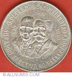 Image #2 of 10 Pesos 1960 - Sesquicentennial of War of Independence