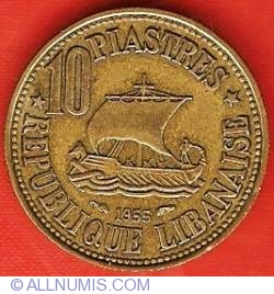 10 Piastres 1955 - Paris Mint