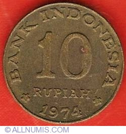 10 Rupiah 1974