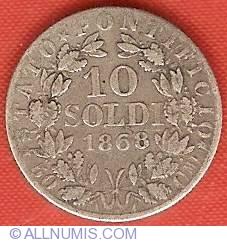 Image #2 of 10 Soldi (50 Centesimi) 1868 (XXIII)