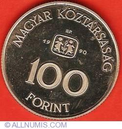 Imaginea #1 a 100 Forint 1990 - SOS Orașul Copiilor