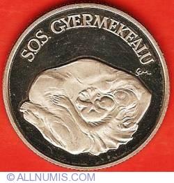 Imaginea #2 a 100 Forint 1990 - SOS Orașul Copiilor