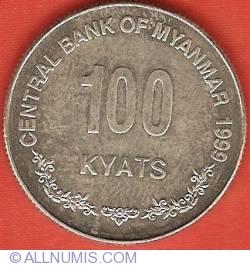 Image #2 of 100 Kyats 1999