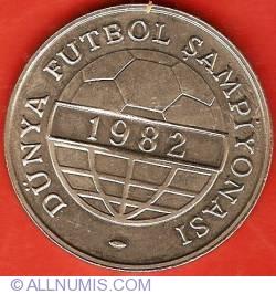 Image #2 of 100 Lira 1982 - World Championships Soccer - Madrid 1982
