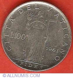 Image #2 of 100 Lire 1961 (III)