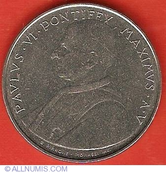 elf Vatican City 50 Lire 1963 Pope Paul VI Spes Anchor