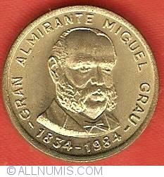 Image #1 of 100 Soles 1984 - 150th Anniversary Birth of Admiral Grau