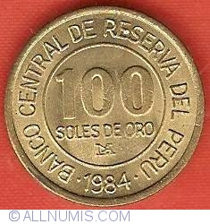 Image #2 of 100 Soles 1984 - 150th Anniversary Birth of Admiral Grau