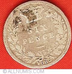 Sixpence 1885
