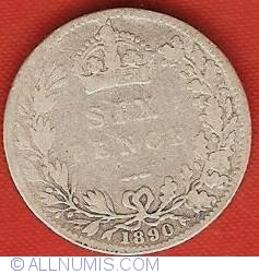 Sixpence 1890