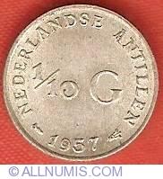 Imaginea #2 a 1/10 Gulden 1957
