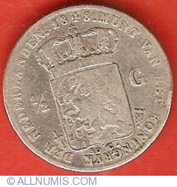Image #2 of 1/2 Gulden (50 Cents) 1848