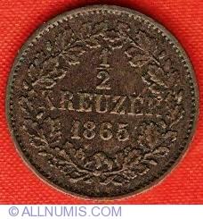Image #2 of 1/2 Kreuzer 1865