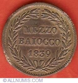 Image #2 of 1/2 (Mezzo) Baioccho 1839 (IX)