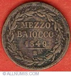 Image #2 of 1/2 (Mezzo) Baioccho 1849 (IIII)