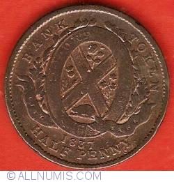 Image #2 of Half Penny 1837 - Bank Token - City Bank