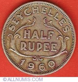 Image #2 of 1/2 Rupee 1960