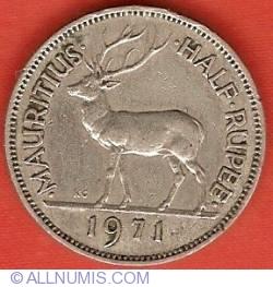 Image #2 of 1/2 Rupee 1971