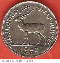 Image #2 of 1/2 Rupee 1990