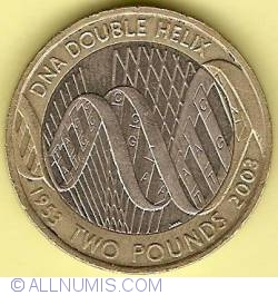 Image #1 of 2 Pounds 2003 - 50th Anniversary of the Discovery of DNA