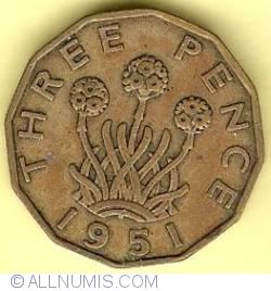 Threepence 1951