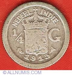 Image #2 of 1/4 Gulden 1915