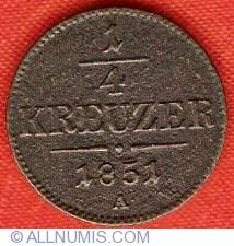 Imaginea #2 a 1/4 Kreuzer 1851 A