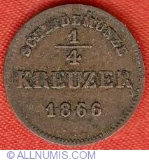 Image #2 of 1/4 Kreuzer 1866