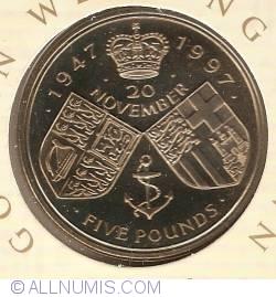 5 Pounds 1997 - Aniversarea nuntii de aur a Reginei Elizabeta a II-a si a Printului Philip
