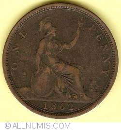 Penny 1862 w/o signature on obverse